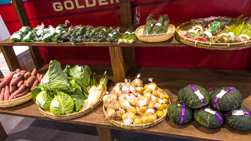 百姓市場の野菜