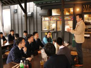 東洋大学京北中学高等学校の生徒さん達が別府温泉足湯を体験されました